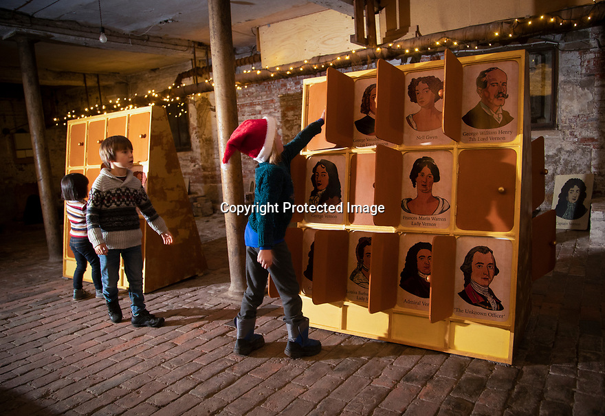21/11/19<br /> <br /> L/R: Martha Johnstone (6) Edward Johnstone and Polly Bamforth (5) play Guess Who in the Beer Cellar.<br /> <br /> <br /> Game On: A supersized snakes and ladder and other board games feature at the National Trust's Sudbury Hall, Derbyshire, where rooms have been converted into board games for Christmas. Visitors themselves are the playing pieces on the snakes and ladders board while other traditional board games featured include Scrabble, Guess Who and Cluedo.<br /> <br /> Full story:  https://rkp-press-releases.netlify.com/press-releases/2019-11-20-sudbury-hall-christmas-game-on-national-trust/<br /> <br /> <br /> All Rights Reserved: F Stop Press Ltd.  <br /> +44 (0)7765 242650 www.fstoppress.com