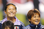 (L-R) Homare Sawa, Shinobu Ono (JPN), MAY 28, 2015 - Football / Soccer : KIRIN Challenge Cup 2015 match between Japan 1-0 Italy at Minaminagano Sports Park, <br /> Nagano, Japan. (Photo by Yusuke Nakansihi/AFLO SPORT)