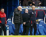 Mark Warburton and David Weir looking glum at full-time