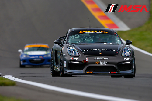 IMSA Continental Tire SportsCar Challenge<br /> Continental Tire 120 at The Glen<br /> Watkins Glen International, Watkins Glen, NY USA<br /> Thursday 29 June 2017<br /> 33, Porsche, Porsche Cayman GT4, GS, Till Bechtolsheimer, Marc Miller<br /> World Copyright: Jake Galstad/LAT Images