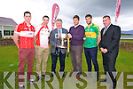 The launch of the Garvey's Supervalu County Senior Football Championship: Paul Geaney, Marc Ó Sé, sponsor Tomas Garvey, Eamonn Fitzmaurice, Killian Young and chairman County Board Patrick O'Sullivan.