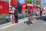 Nicolas Roche (IRL) Team Sunweb crosses the finish line in 2nd place at the end of Stage 2 of La Vuelta 2019 running 199.6km from Benidorm to Calpe, Spain. 25th August 2019.<br /> Picture: Ann Clarke | Cyclefile<br /> <br /> All photos usage must carry mandatory copyright credit (© Cyclefile | Ann Clarke)