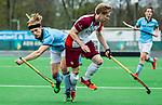 ALMERE - Hockey - Hoofdklasse competitie heren. ALMERE-HGC (0-1) . Erwin Kruisbrink (Almere)  met links Thijmen Piket (HGC) .  COPYRIGHT KOEN SUYK