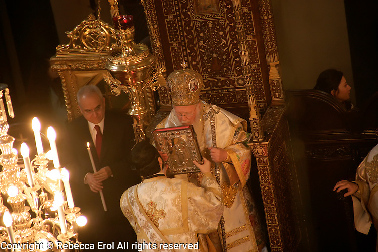 The Ecumenical Patriarch at the Orthodox Easter service in Istanbul, Turkey