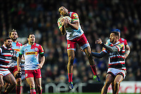 Joe Marchant of Harlequins claims the ball in the air. Aviva Premiership match, between Leicester Tigers and Harlequins on November 20, 2016 at Welford Road in Leicester, England. Photo by: Patrick Khachfe / JMP