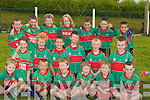 TEAM MATES: Lets win the Ballydonoghue Football Blitz say the under 8 Beale Team on Saturday at Ballydonoghue GAA Grounds. Front l-r: Darragh Kissane, Aaron Buckley, David, Conor and Mark Hennessy and Pierse O'Sullivan. Middle row l-r: Aoife Dillon, Sean Moloney, Padraig Holly, Jamie Hannon, Conor Twomey and David Buckley. Back l-r: Philip Burns, Jack O'Sullivan, Diarmuid O'Mahony,Fionna?n Twomey, Eric Daly,Conor Behan and Paddy O'Rourke.... ....