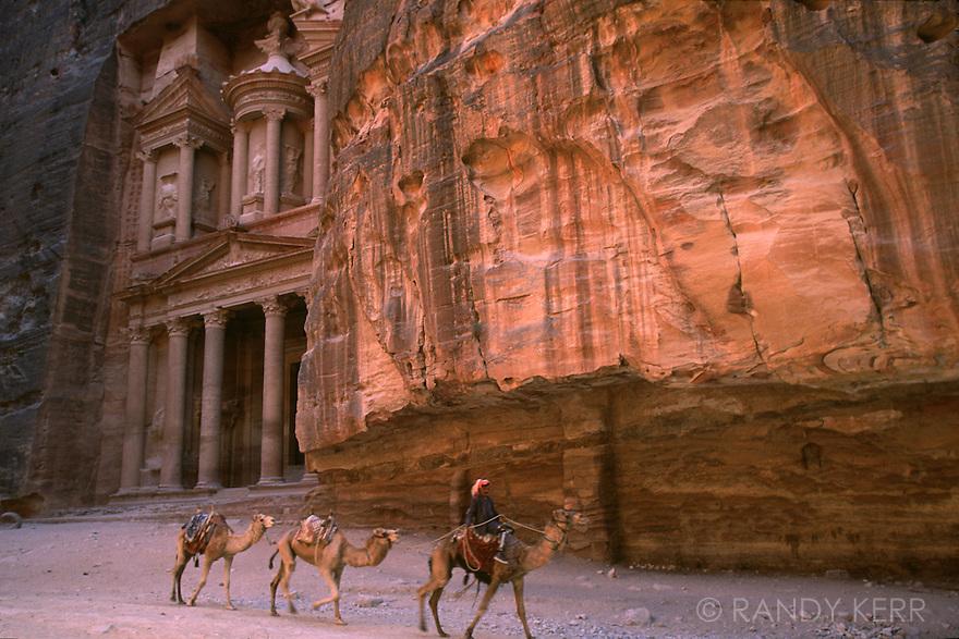 Petra Treasury and camel rider