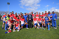 Retiring HKRFU chairman John Mowbray with the team after the 2019 Heartland Championship  rugby match between Horowhenua Kapiti and Wanganui Steelers at Levin Domain in Levin, New Zealand on Saturday, 28 September 2019. Photo: Dave Lintott / lintottphoto.co.nz