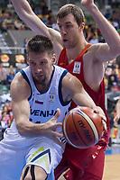 Spain Fran Vazquez and Slovenia Gasper Vidmar during FIBA European Qualifiers to World Cup 2019 between Spain and Slovenia at Coliseum Burgos in Madrid, Spain. November 26, 2017. (ALTERPHOTOS/Borja B.Hojas) /NortePhoto NORTEPHOTOMEXICO
