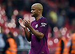 Vincent Kompany of Manchester City celebrates at the end of the premier league match at the Wembley Stadium, London. Picture date 14th April 2018. Picture credit should read: Robin Parker/Sportimage