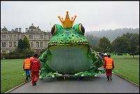 BNPS.co.uk (01202 558833)<br /> Pic: Longleat/BNPS<br /> <br /> A team of Chinese lantern experts from Sichuan province have been brought in to construct the figures.<br /> <br /> Longleat House has been transformed into a world full of spectacular fantasy and fairytales for its popular Festival of Light this winter.<br /> <br /> Featuring Little Red Riding Hood, Goldilocks, Hansel and Gretel and even a life size floating Galleon, the festival is the oldest and largest in the UK.<br /> <br /> The stunning display using 30,000 metres of silk has been constructed by a team of highly skilled artisan's from the village of Zigong in Sichuan Province, China, which has a 2000 year tradition of lantern festivals.