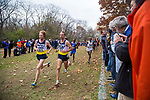 LOUISVILLE, KY - NOVEMBER 18: Tyler Day #429 and Matthew Baxter #426, both of Northern Arizona University take an early lead during the Division I Men's Cross Country Championship held at E.P. Tom Sawyer Park on November 18, 2017 in Louisville, Kentucky. (Photo by Tim Nwachukwu/NCAA Photos via Getty Images)