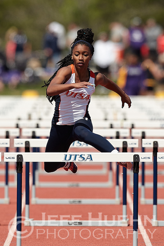 SAN ANTONIO, TX - MARCH 19, 2016: The University of Texas at San Antonio Roadrunners compete at the UTSA Invitational Track & Field Meet at the Park West Athletics Complex. (Photo by Jeff Huehn)