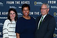 WASHINGTON, DC - JUNE 8: Courteney Monroe, D.C. Mayor Muriel Bowser and Gary Knell attend an advanced screening of 'From the Ashes' presented by National Geographic and Bloomberg Philanthropies at National Geographic Headquarters on June 8, 2017 in Washington, DC. (Photo by Don Baxter/National Geographic/PictureGroup)