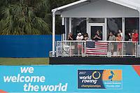 Sarasota. Florida USA.  &quot;Spectators Hospitality&quot;. 2017 World Rowing Championships, Nathan Benderson Park<br /> <br /> Saturday  30.09.17   <br /> <br /> [Mandatory Credit. Peter SPURRIER/Intersport Images].<br /> <br /> <br /> NIKON CORPORATION -  NIKON D500  lens  VR 500mm f/4G IF-ED mm. 250 ISO 1/1000/sec. f 7.1