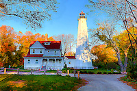 North Point Lighthouse, Milwaukee, Wisconsin, photographic art