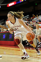 LOS ANGELES, CA - MARCH 12:  Kayla Pedersen during Stanford's 72-52 win over Arizona in the Pac-10 Tournament at the Staples Center on March 12, 2010 in Los Angeles, California.