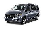 2018 Mercedes Benz Metris Passenger-Van 5 Door Passenger Van Angular Front stock photos of front three quarter view
