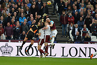 Nick Pope of Burnley  pinches a cross during West Ham United vs Burnley, Premier League Football at The London Stadium on 10th March 2018