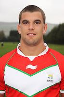 PICTURE BY IAN LOVELL/WRL...Rugby League - Wales Rugby League Headshots 2011 - 21/10/11...Wales Elliot Kear.