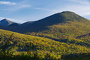 Big Coolidge Mountain in Lincoln, New Hampshire on an autumn morning. This mountainside was logged during the East Branch & Lincoln Railroad era.