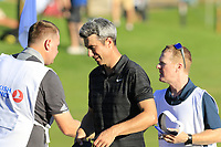 Ross Fisher (ENG) finishes on the 18th green during Thursday's Round 1 of the 2018 Turkish Airlines Open hosted by Regnum Carya Golf &amp; Spa Resort, Antalya, Turkey. 1st November 2018.<br /> Picture: Eoin Clarke | Golffile<br /> <br /> <br /> All photos usage must carry mandatory copyright credit (&copy; Golffile | Eoin Clarke)