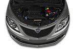 Car Stock 2019 Lancia Ypsilon Gold 5 Door Hatchback Engine  high angle detail view