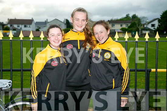 Ciara Nix, Lara Flynn and Clodagh Murray at the Unveils  of The Rock monument to commemorate the 100 year celebrations  outside Austin Stacks GAA club grounds at Connolly Park on Monday evening