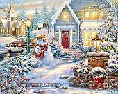 Dona Gelsinger, CHRISTMAS SANTA, SNOWMAN, WEIHNACHTSMÄNNER, SCHNEEMÄNNER, PAPÁ NOEL, MUÑECOS DE NIEVE, paintings+++++,USGE1443,#x#,snow bridge
