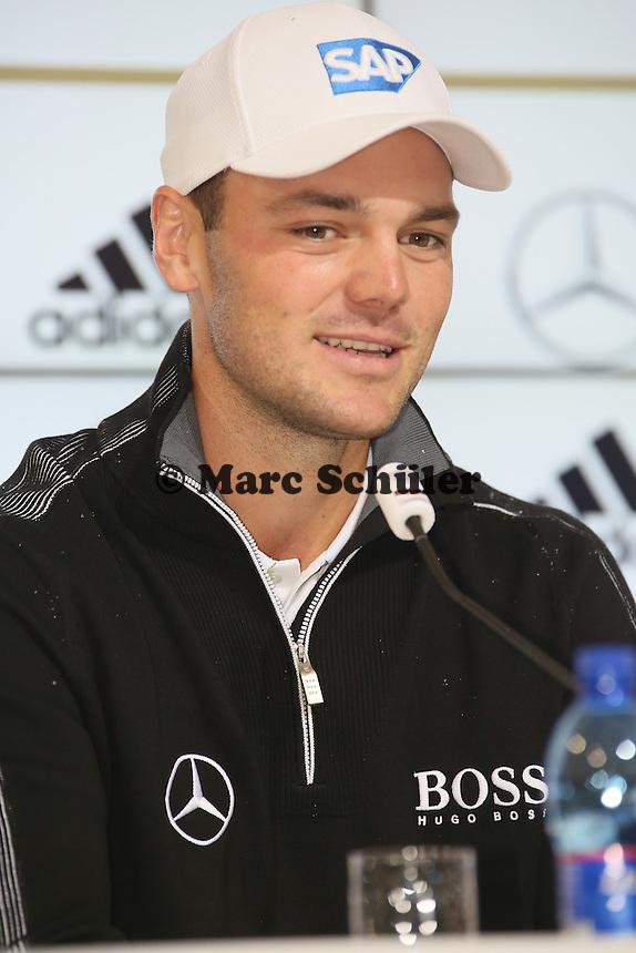 Golf-Profi Martin Kaymer - Pressekonferenz der Deutschen Nationalmannschaft  zur WM-Vorbereitung in St. Martin