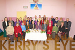 ACTIVE: The Ballymacelligott Active Retirement group who held their annual Christmas dinner and mass at Kilduff Community Centre on Thursday. Front l-r: Marie Barron, Mary McKenna, Jenny O'Sullivan, Phil Donaher, Sea?n Prenderville, Eileen Sheehy, Dermot Lynch, Mary Hanlon, Eily Keane and Carol Leane. Back l-r: Helen Everson, Patrick McKenna, Vallie Blennerhassett, Nellie Brosnan, Rita Heffernan, Eva Griffin, Kay Deane, Hester Hill, Sr Bernardine, Rev Joe Hardy, Fr Pat Crean-Lynch, Mary Lynch, Nuala Flanagan, Phil Barrett, John Marchant, Eamon Scanlon, Riona Fitzgerald, Lill O'Leary and Denis Broderick.  ...