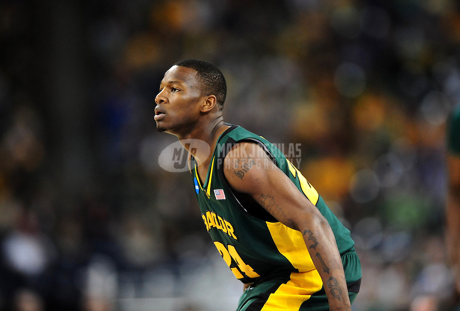 Mar. 28, 2010; Houston, TX, USA; Baylor Bears guard (24) LaceDarius Dunn against the Duke Blue Devils during the finals of the south regional in the 2010 NCAA mens basketball tournament at Reliant Stadium.  Duke defeated Baylor 78-71.  Mandatory Credit: Mark J. Rebilas-