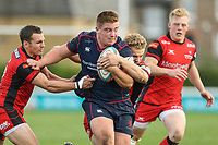 Isaac Miller of London Scottish during the Greene King IPA Championship match between London Scottish Football Club and Hartpury RFC at Richmond Athletic Ground, Richmond, United Kingdom on 28 October 2017. Photo by David Horn.