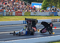 Jun 10, 2017; Englishtown , NJ, USA; NHRA top fuel driver Blake Alexander during qualifying for the Summernationals at Old Bridge Township Raceway Park. Mandatory Credit: Mark J. Rebilas-USA TODAY Sports