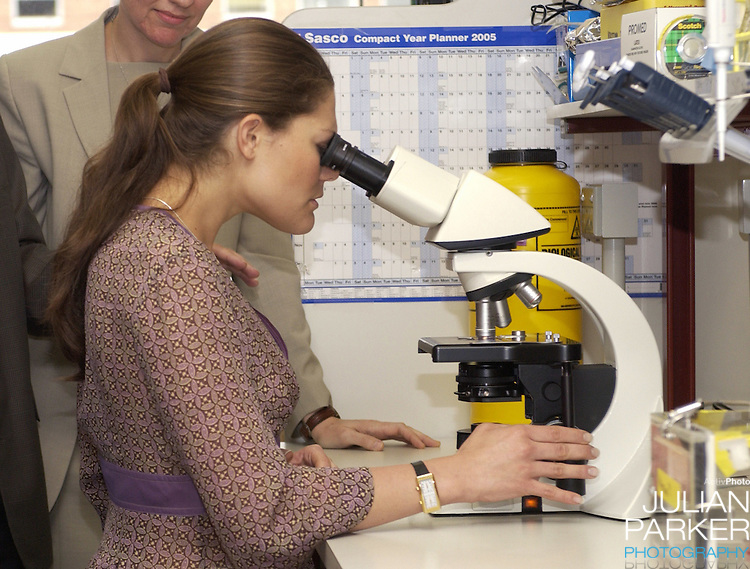 Crown Princess Victoria of Sweden visits the Walter & Eliza Institute of Medical Research in Melbourne, during her visit to promote 'Swedish Style In Australia'..
