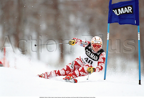 FREDERIC COVILI (FRA), Men's Giant Slalom, World Cup Skiing, Val D'Isere 001210 Photo:Neil Tingle/Action Plus...2000.winter sport.winter sports.wintersport.wintersports.alpine.ski.skier.man