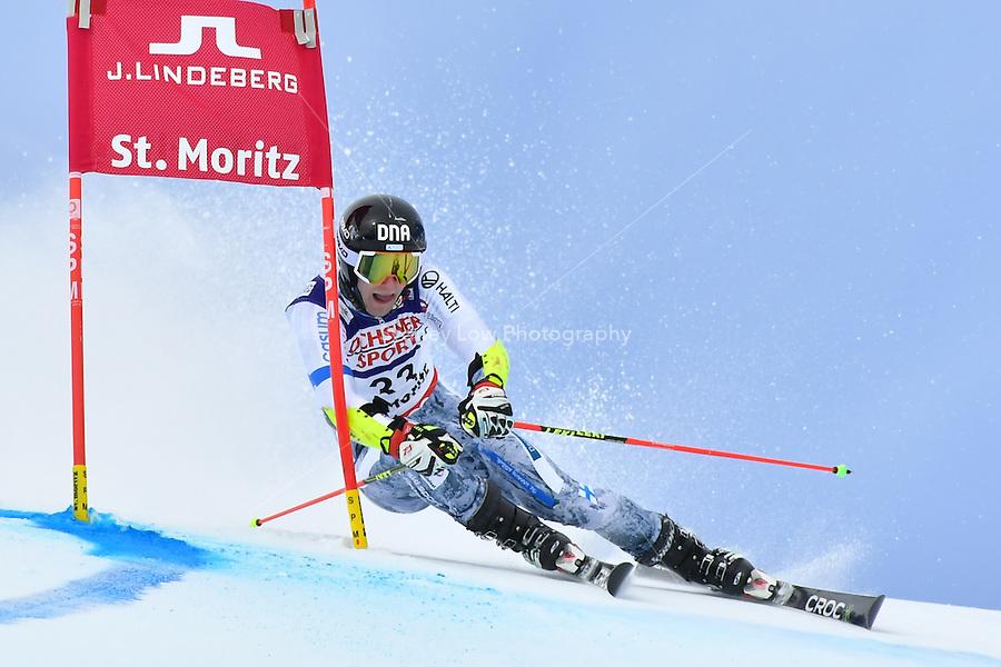 February 17, 2017: Eemeli PIRINEN (FIN) competing in the men's giant slalom event at the FIS Alpine World Ski Championships at St Moritz, Switzerland. Photo Sydney Low