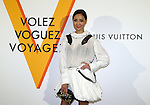 """April 21, 2016, Tokyo, Japan - Taiwanese socialite Aimee Sun smiles during a photo call for the reception of Louis Vuitton's art exhibition in Tokyo on Thursday, April 21, 2016. French luxury barnd Luis Vuitton will hold the exhibition """"Volez, Voguez, Voyagez"""" in Tokyo from April 23 through June 19.  (Photo by Yoshio Tsunoda/AFLO) LWX -ytd-"""