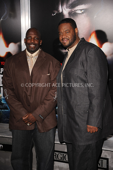 WWW.ACEPIXS.COM . . . . . ....February 17 2010, New York City....Actors Kevin Brown (L) and Grizz Chapman arriving at the New York premiere of 'Shutter Island' at the Ziegfeld Theatre of February 17 2010 in New York City......Please byline: KRISTIN CALLAHAN - ACEPIXS.COM.. . . . . . ..Ace Pictures, Inc:  ..(212) 243-8787 or (646) 679 0430..e-mail: picturedesk@acepixs.com..web: http://www.acepixs.com