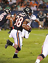 LORENZO BOOKER (38), of the Chicago Bears, in action during the Bears preseason game against the Denver Broncos on August 9, 2012 at Soldier Field in Chicago, IL. The Broncos beat the Bears 31-3.