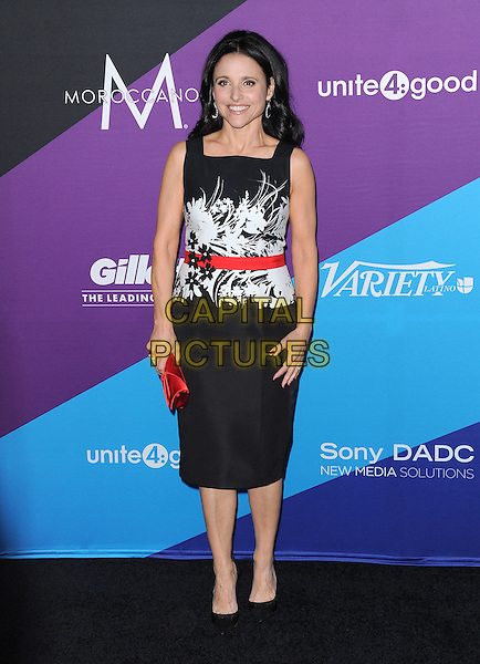 LOS ANGELES, CA - FEBRUARY 27 - Julia Louis-Dreyfus attends unite4:good and Variety presentation &quot;unite4:humanity&quot; Celebrating Good, Giving and Greatness Around the Globe held at Sony Picture Studios in Culver City, California on February 27,2014                                                                              <br /> CAP/DVS<br /> &copy;DVS/Capital Pictures