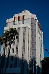 The Art Deco Sunset Tower hotel on the Sunset Strip in Los Angeles, CA