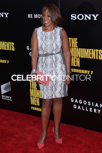 "NEW YORK, NY - FEBRUARY 04: Gayle King at the New York Premiere Of Columbia Pictures' ""The Monuments Men"" held at Ziegfeld Theater on February 4, 2014 in New York City, New York. (Photo by Jeffery Duran/Celebrity Monitor)"