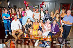 Ariane Finnegan from Tralee celebrating her 21st birthday in the Fiddler bar on Saturday night.<br /> Seated l to r: Patrick Finnegan, Hamish Irwin, Jamie, Ellen, Ariane Finnegan, Angela Walsh and Laura Finnegan.