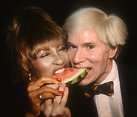 Andy Warhol Tina Turner 1981<br /> Photo By Adam Scull/PHOTOlink.net