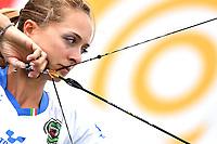 Irene Franchini Compound Mixed Team <br /> <br /> ITALIA Italy Arco Olimpico <br /> Roma 02-09-2017 Stadio dei Marmi <br /> Roma 2017 Hyundai Archery World Cup Final <br /> Finale Coppa del mondo tiro con l'arco <br /> Foto Antonietta Baldassarre Insidefoto/Fitarco