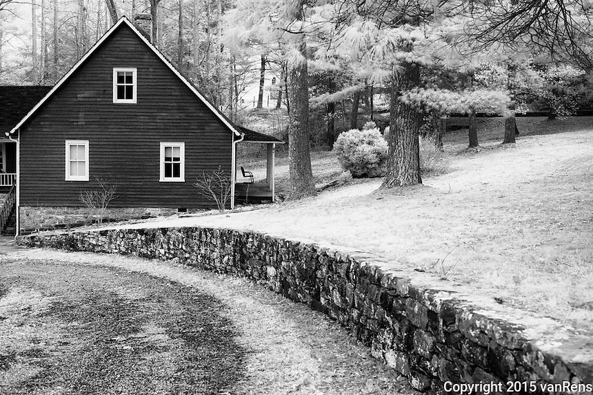 Caretaker House nest to gaot barns at Carl Sandburg National Historic site.