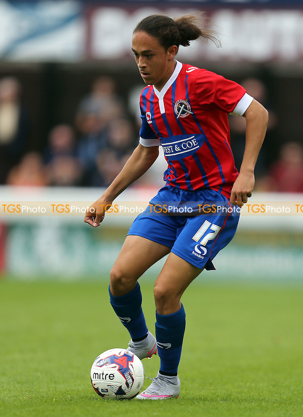 Jodi Jones of Dagenham during Dagenham and Redbridge vs Stevenage, Sky Bet League 2 Football at the London Borough of Barking and Dagenham Stadium, London, England on 29/08/2015