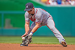 14 April 2013: Atlanta Braves infielder Dan Uggla in action against the Washington Nationals at Nationals Park in Washington, DC. The Braves shut out the Nationals 9-0 to sweep their 3-game series. Mandatory Credit: Ed Wolfstein Photo *** RAW (NEF) Image File Available ***