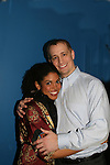 """Karla Mosley """"Christina"""" GL poses with her fiance Jeremiah Frei-Pearson and she sings at the Broadway For A New America presented by the Jewish Alliance for Change on April 13, 2009 at the Peter Norton Symphony Space, NYC. (Photo by Sue Coflin/Max Photos)"""